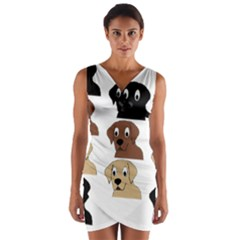 Labs 3 Colors Cartoon Head Wrap Front Bodycon Dress