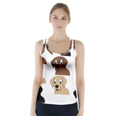 Labs 3 Colors Cartoon Head Racer Back Sports Top