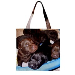 Litter Of Lab Pups Zipper Grocery Tote Bag