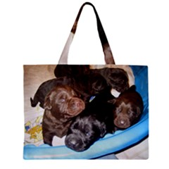 Litter Of Lab Pups Zipper Mini Tote Bag