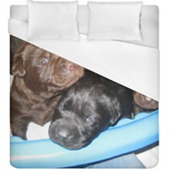 Litter Of Lab Pups Duvet Cover (King Size)