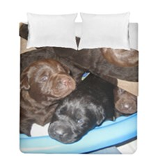 Litter Of Lab Pups Duvet Cover Double Side (Full/ Double Size)