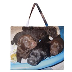 Litter Of Lab Pups Zipper Large Tote Bag
