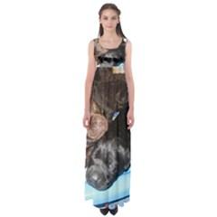 Litter Of Lab Pups Empire Waist Maxi Dress