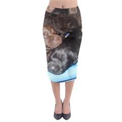 Litter Of Lab Pups Midi Pencil Skirt