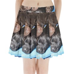 Litter Of Lab Pups Pleated Mini Skirt