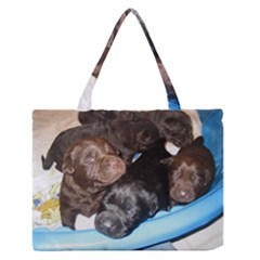 Litter Of Lab Pups Medium Zipper Tote Bag