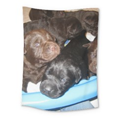 Litter Of Lab Pups Medium Tapestry