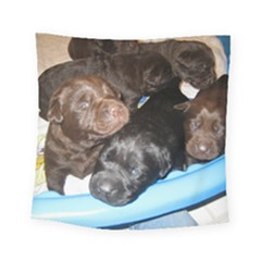 Litter Of Lab Pups Square Tapestry (Small)