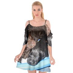 Litter Of Lab Pups Cutout Spaghetti Strap Chiffon Dress