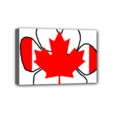 Mega Paw Canadian Flag Mini Canvas 6  x 4