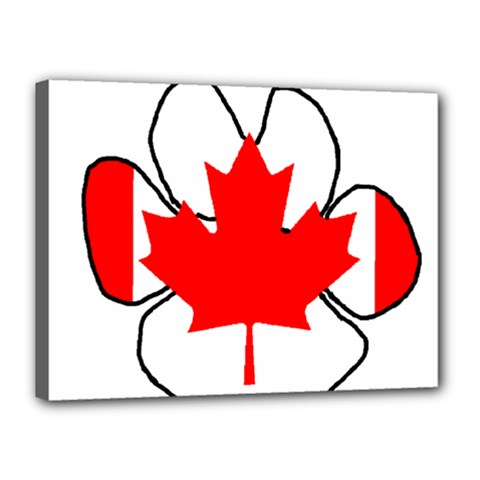 Mega Paw Canadian Flag Canvas 16  x 12