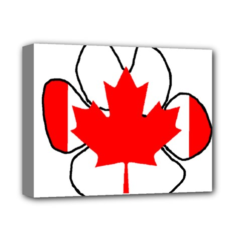 Mega Paw Canadian Flag Deluxe Canvas 14  x 11
