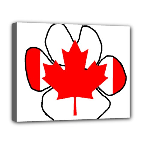 Mega Paw Canadian Flag Deluxe Canvas 20  x 16
