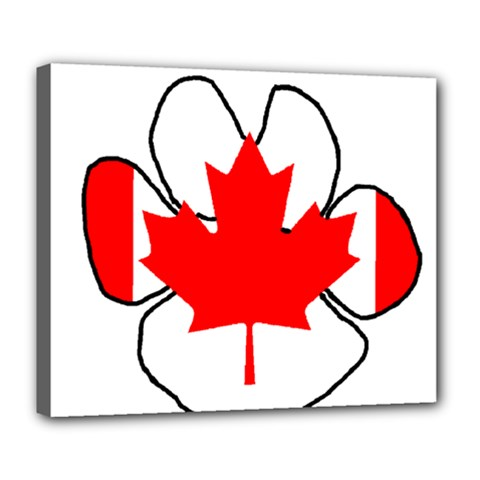 Mega Paw Canadian Flag Deluxe Canvas 24  x 20
