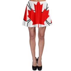 Mega Paw Canadian Flag Skater Skirt