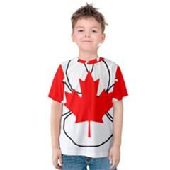 Mega Paw Canadian Flag Kids  Cotton Tee