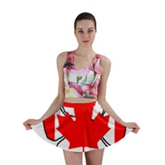 Mega Paw Canadian Flag Mini Skirt
