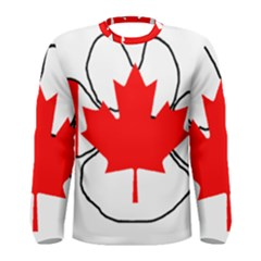 Mega Paw Canadian Flag Men s Long Sleeve Tee
