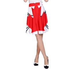 Mega Paw Canadian Flag A-Line Skirt
