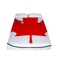 Mega Paw Canadian Flag Fitted Sheet (Full/ Double Size)