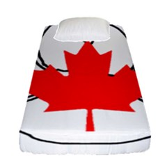 Mega Paw Canadian Flag Fitted Sheet (Single Size)