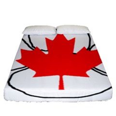 Mega Paw Canadian Flag Fitted Sheet (Queen Size)