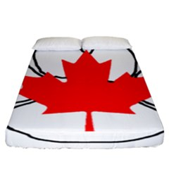 Mega Paw Canadian Flag Fitted Sheet (King Size)