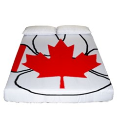 Mega Paw Canadian Flag Fitted Sheet (California King Size)