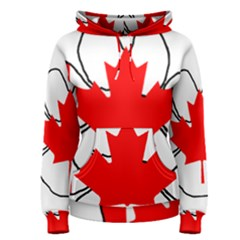 Mega Paw Canadian Flag Women s Pullover Hoodie
