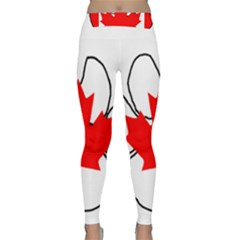 Mega Paw Canadian Flag Classic Yoga Leggings