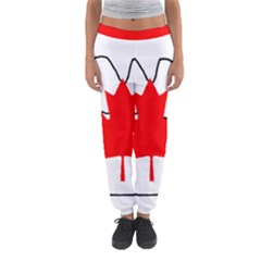 Mega Paw Canadian Flag Women s Jogger Sweatpants