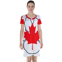 Mega Paw Canadian Flag Short Sleeve Nightdress
