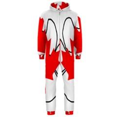 Mega Paw Canadian Flag Hooded Jumpsuit (Men)