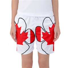 Mega Paw Canadian Flag Women s Basketball Shorts