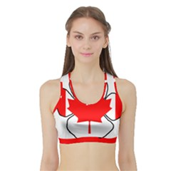Mega Paw Canadian Flag Sports Bra with Border