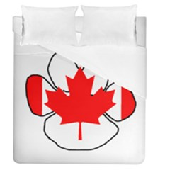 Mega Paw Canadian Flag Duvet Cover (Queen Size)