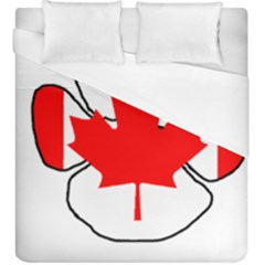Mega Paw Canadian Flag Duvet Cover (King Size)