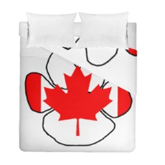 Mega Paw Canadian Flag Duvet Cover Double Side (Full/ Double Size)