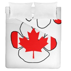 Mega Paw Canadian Flag Duvet Cover Double Side (Queen Size)