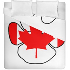 Mega Paw Canadian Flag Duvet Cover Double Side (King Size)