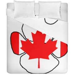 Mega Paw Canadian Flag Duvet Cover Double Side (California King Size)