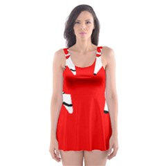 Mega Paw Canadian Flag Skater Dress Swimsuit
