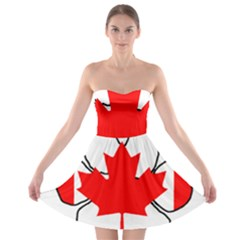 Mega Paw Canadian Flag Strapless Bra Top Dress