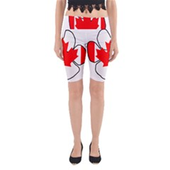 Mega Paw Canadian Flag Yoga Cropped Leggings