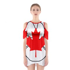 Mega Paw Canadian Flag Shoulder Cutout One Piece