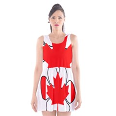 Mega Paw Canadian Flag Scoop Neck Skater Dress