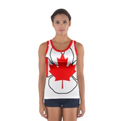 Mega Paw Canadian Flag Women s Sport Tank Top