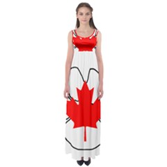 Mega Paw Canadian Flag Empire Waist Maxi Dress