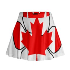 Mega Paw Canadian Flag Mini Flare Skirt